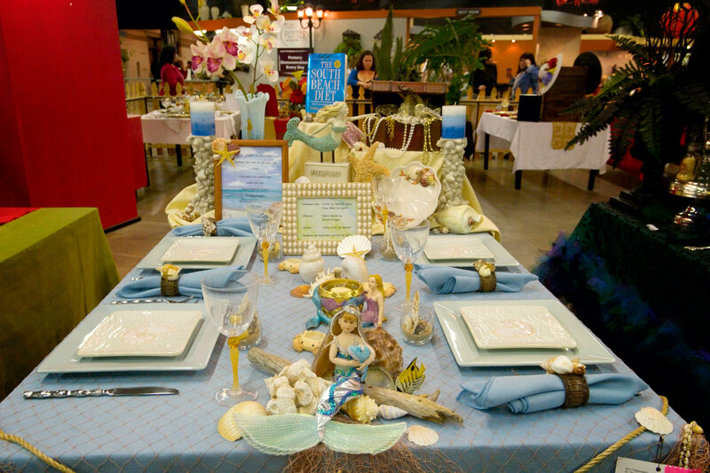 A mermaid-themed table at the L.A. County Fair. & The Fiercely Precise World of Competitive Table-Setting - Atlas Obscura