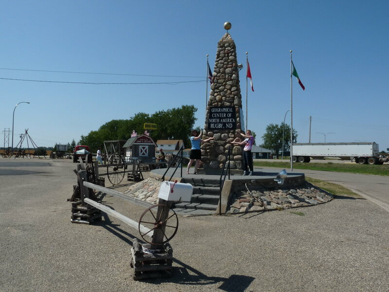 The rock obelisk at Rugby, North Dakota.