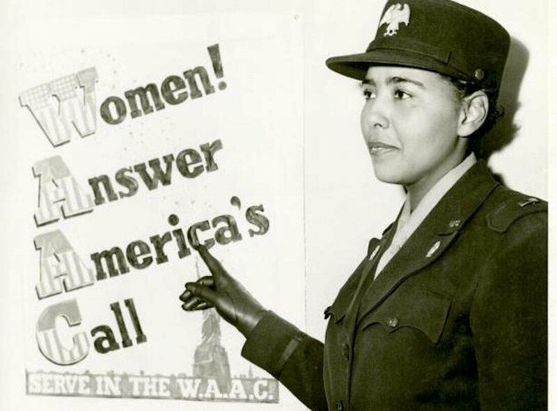 Charity Adams Earley, one of many black American women who served in WWII.