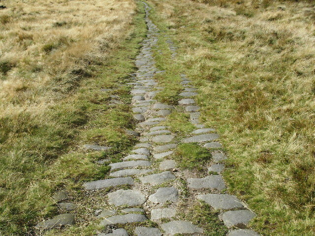 An actual Roman road in Britain (with what might be more recent paving stones).