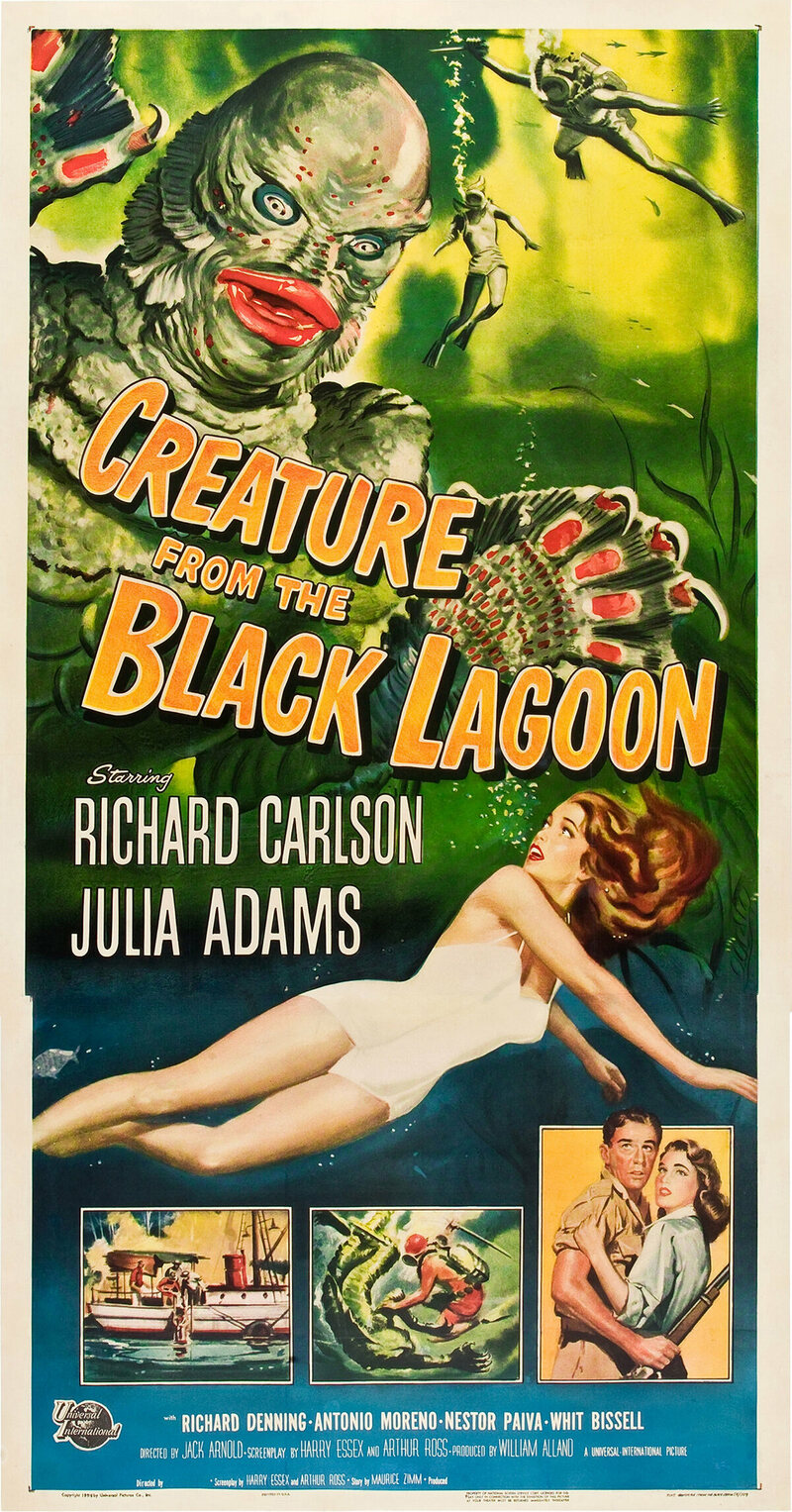 <em>Creature From the Black Lagoon</em>, Reynold Brown, 1954.