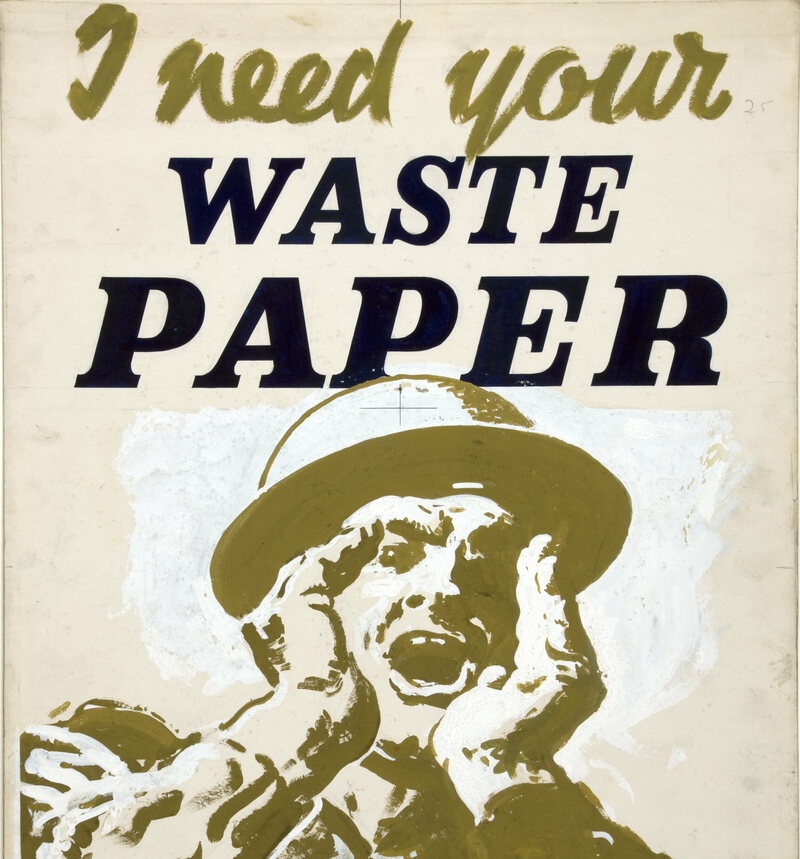 Paper Salvage poster, c. 1939-1946
