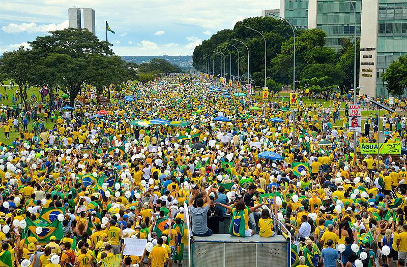 A protest in Brazil in 2016.
