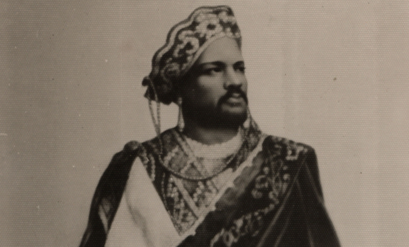 An undated photograph of Aldridge as Othello (cropped).