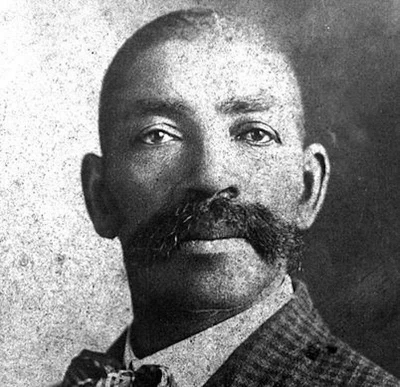 Bass Reeves, wearing his iconic push broom mustache.