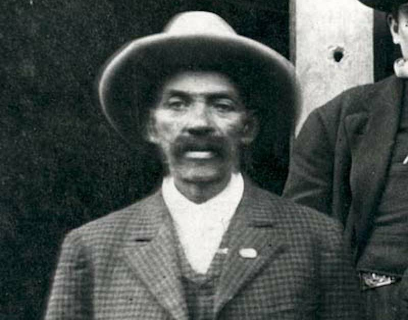 Bass Reeves in 1907. Still with mustache.