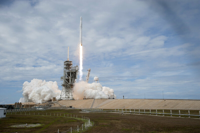 A SpaceX Falcon 9 launches on June 3, carrying the Ghanasat-1 and supplies for the International Space Station.