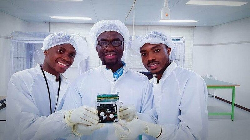 The team behind the Ghanasat-1.