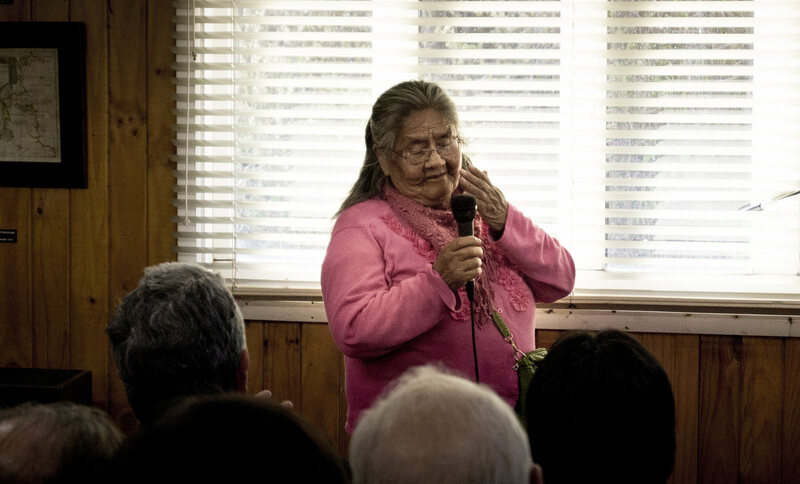 Cristina Calderón, the only living fluent speaker of the Yaghan language.