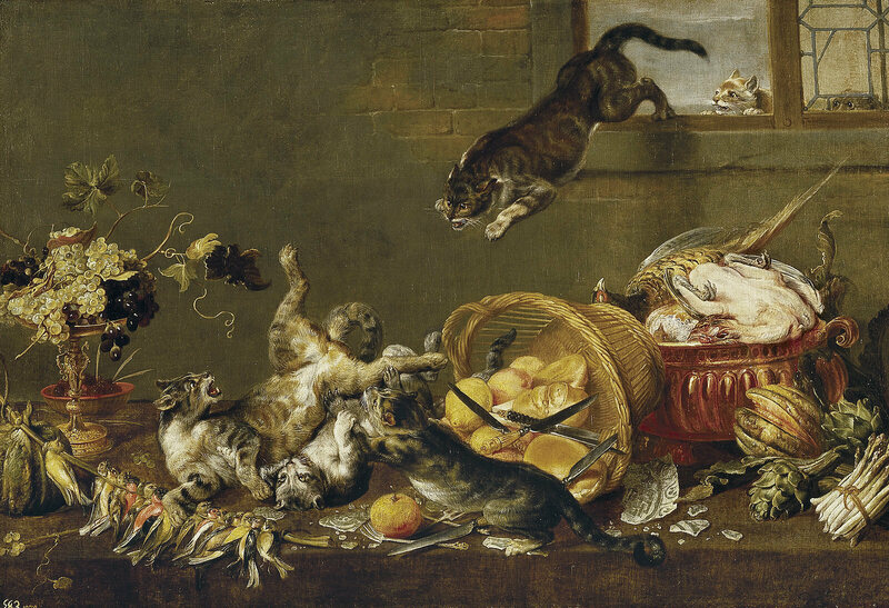 <em>Cats Fighting in a Larder</em> by Paul de Vos.