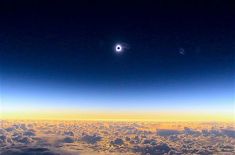 An eclipse from almost space.