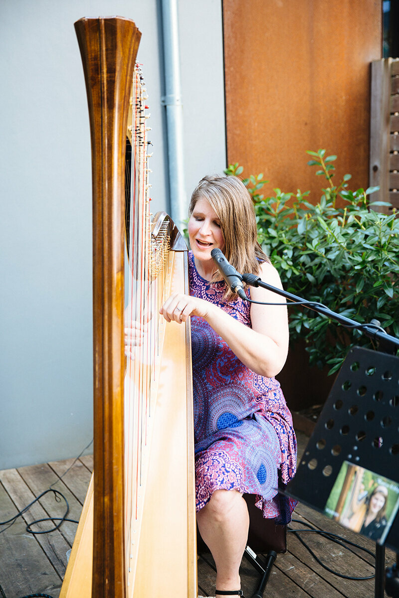 Monica Schley cooled the balmy evening with original songs.