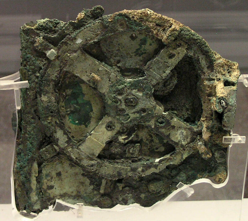 A fragment of the Antikythera mechanism.