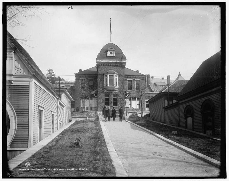 The Government free bath house around 1901.