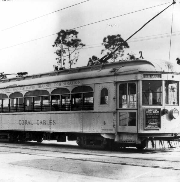 A streetcar in Coral Gables, Florida.