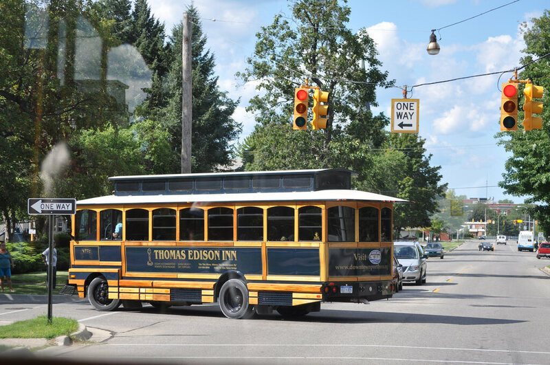 Trolley Tour in Port Huron, Michigan.