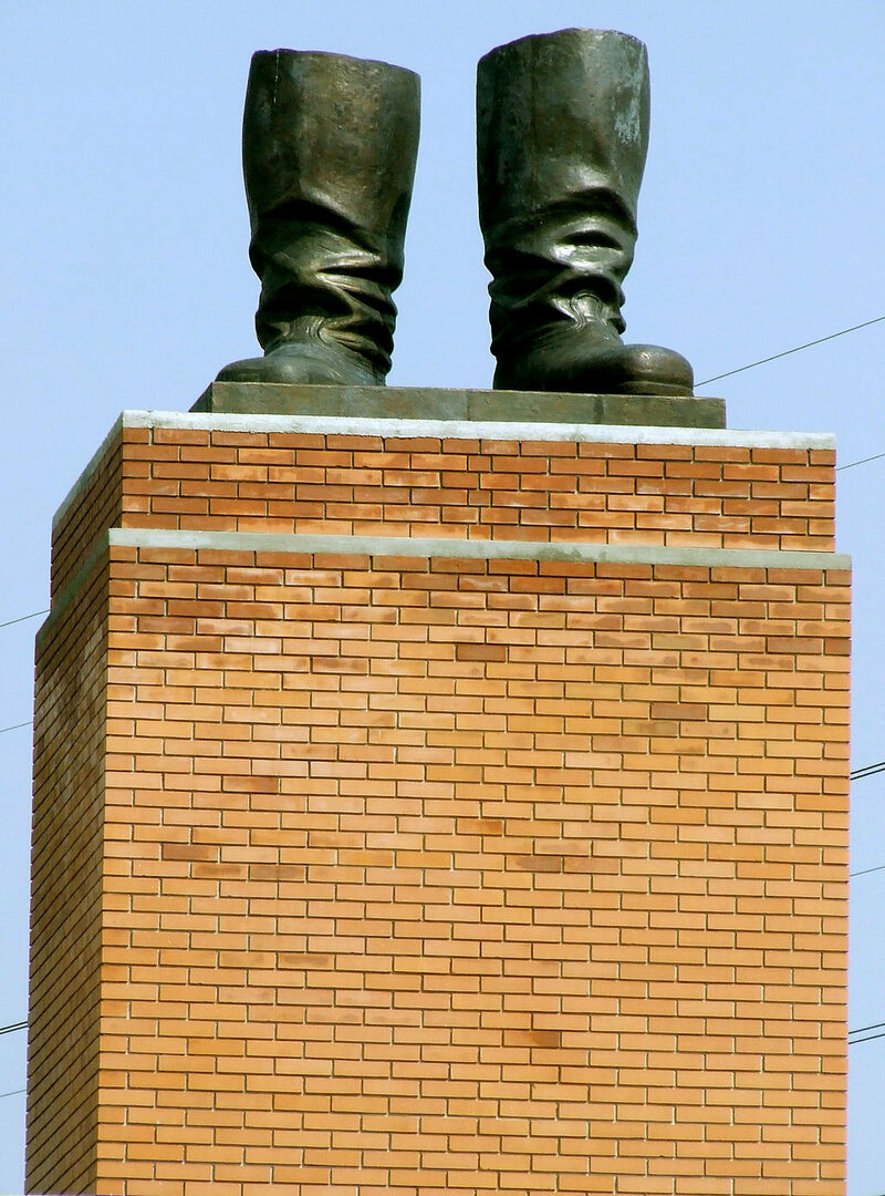 Stalin's boots, Memento Park, Budapest, Hungary.