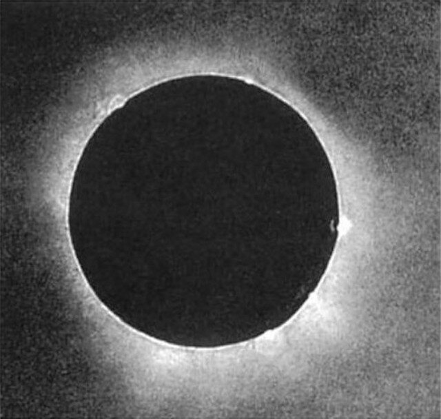 The first photograph of a solar eclipse, taken in 1851.