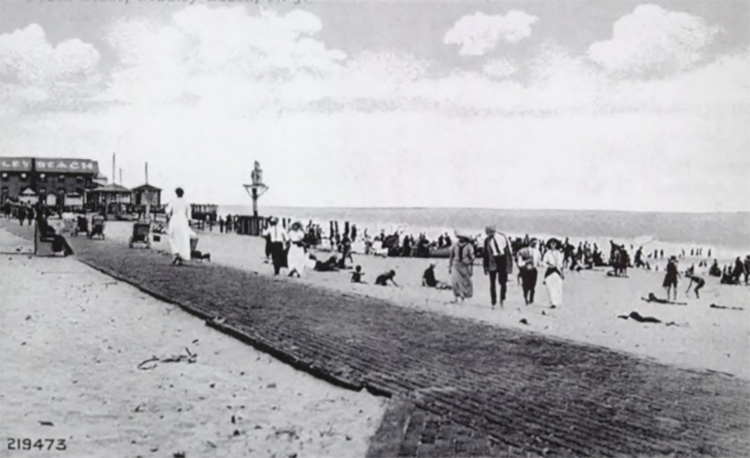 Bradley Beach with the original boardwalk.