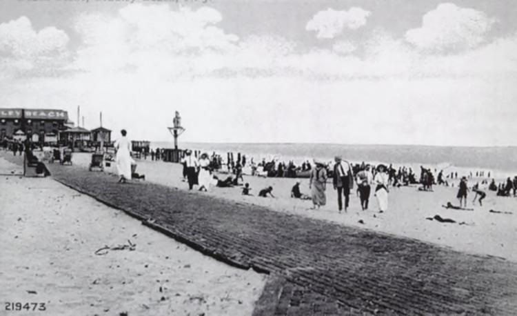 Bradley Beach with the original boardwalk.