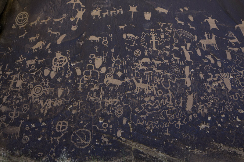 Petroglyphs found in the Indian Creek area.
