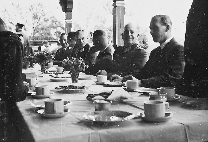 Members of the Nazi party in Norway, 1942. during a visit by the Reichskommissar Josef Terboven.