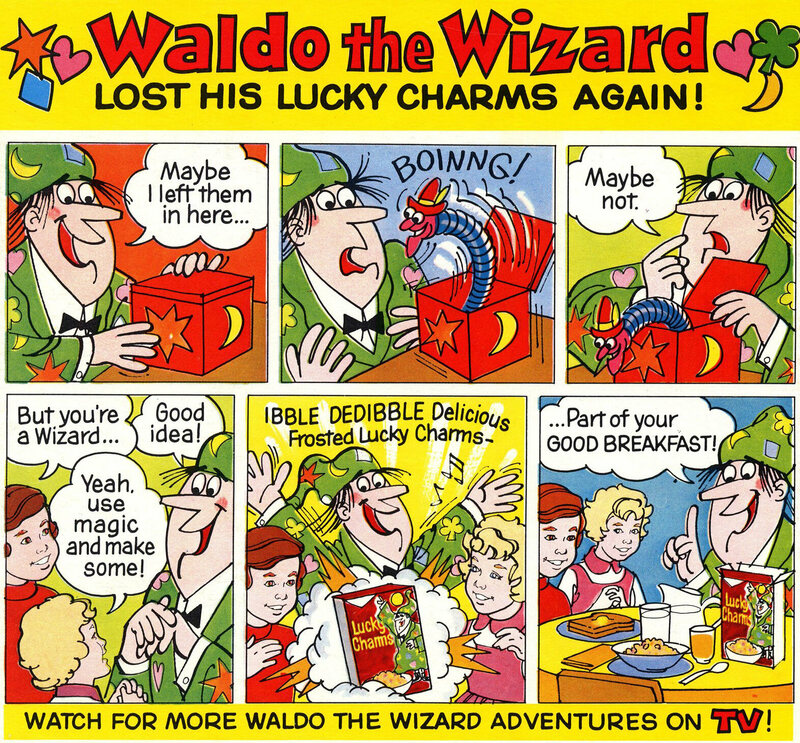 A cartoon from 1975 of Waldo the Wizard.