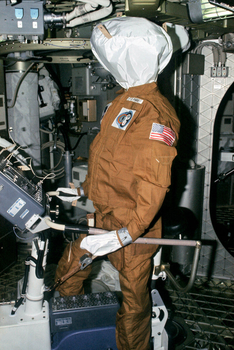 The Pogue dummy, one of three left for the Skylab 4 crew by the Skylab 3 crew.