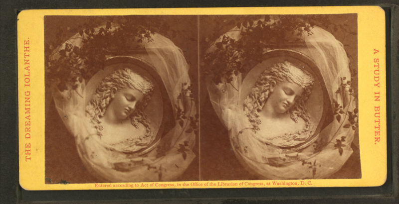 """The Dreaming Iolanthe,"" as displayed at the 1876 Centennial Exposition."