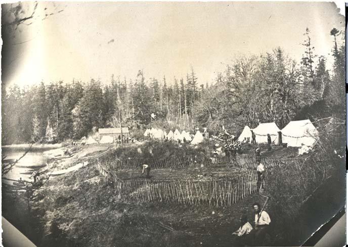 The British camp, 1860.