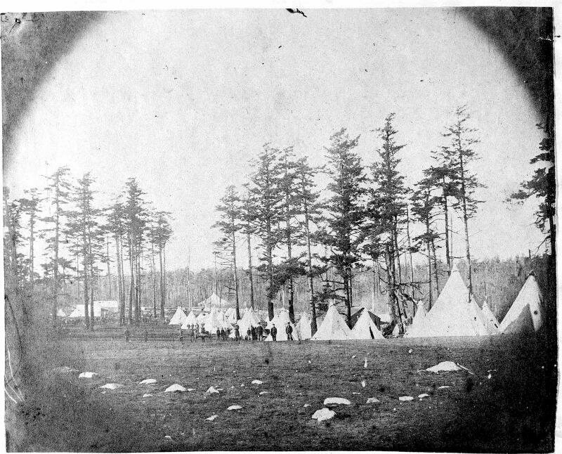 The American camp, 1859.