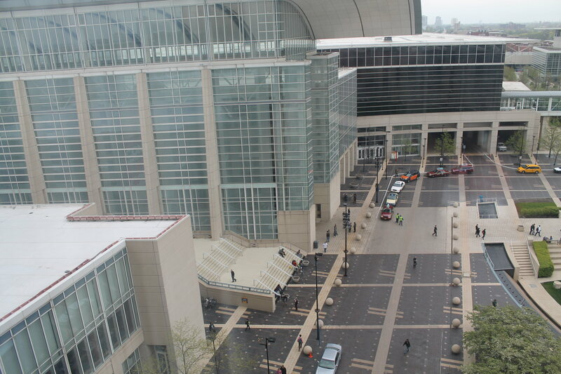 McCormick Place, confusing to birds and bats for different reasons.