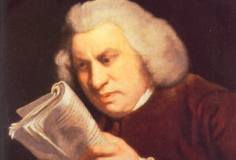 Samuel Johnson, published an English dictionary in 1755.