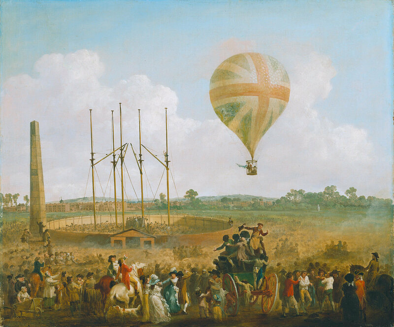 Lunardi was so well-received in Britain, he eventually painted his balloon to match the country's flag.