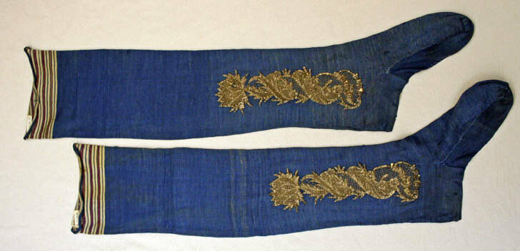 French stockings from the late 18th century.