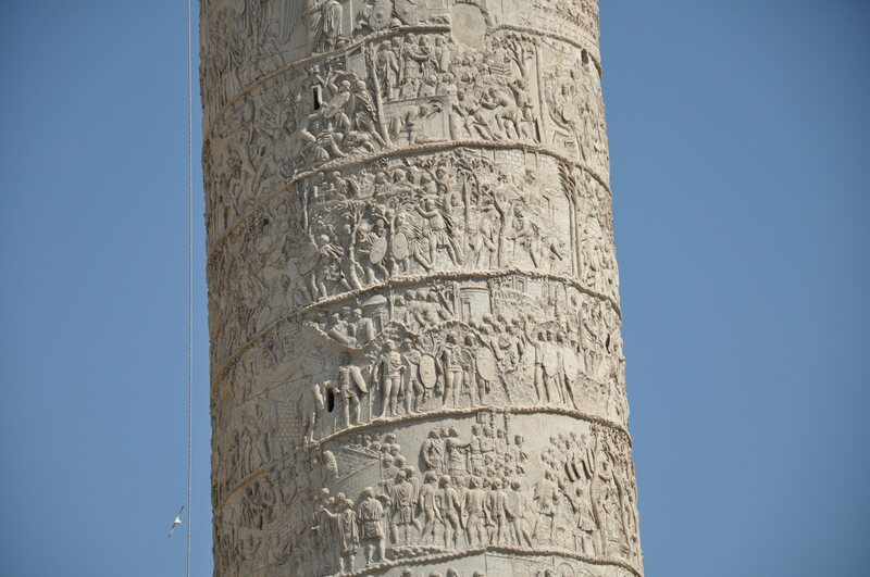 Trajan's Column, showing Roman soldiers wearing leggings.