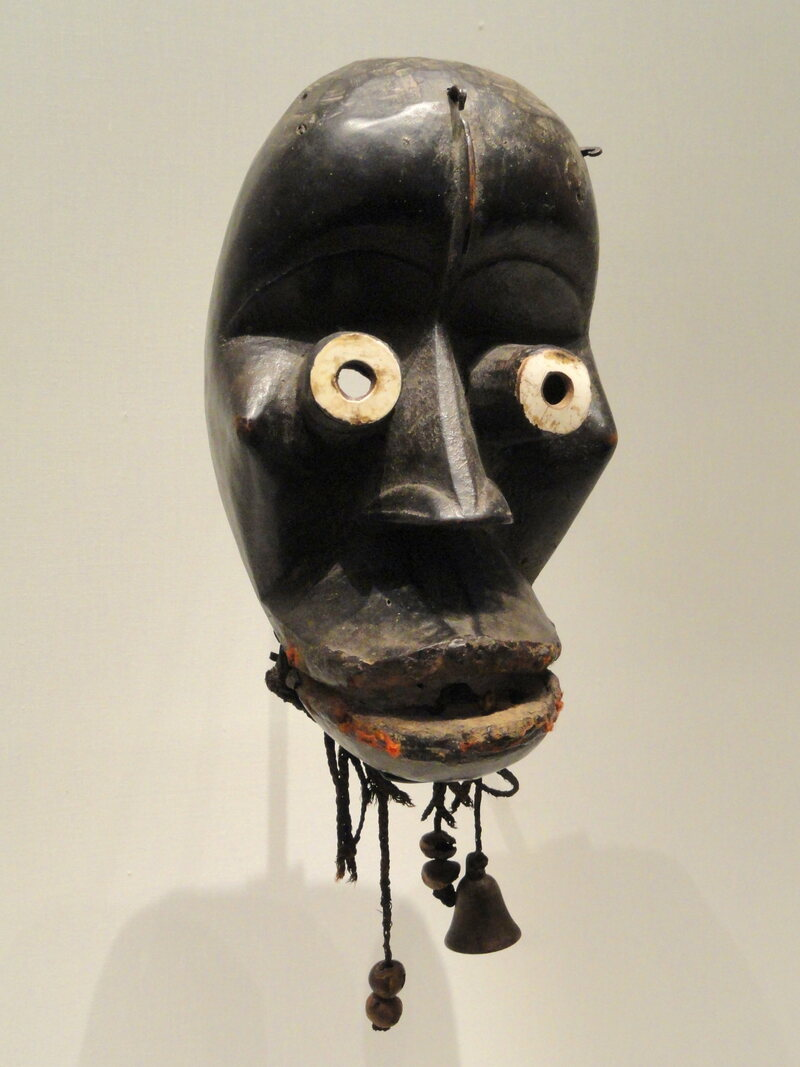 This ivory and wood mask, on display at the Cleveland Museum of Art, Cleveland, Ohio, comes from Liberia's Mano people and is thought to date to the early 1900s.