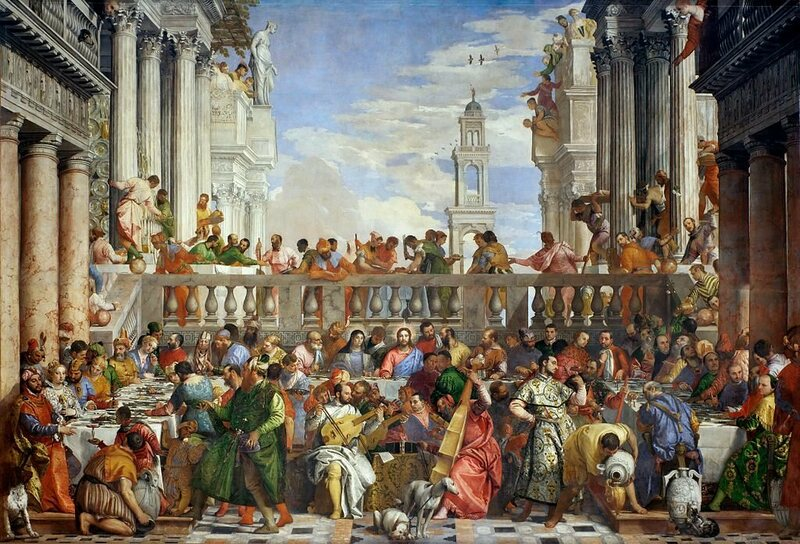 The 16th-century painting <em>The Wedding at Cana</em>, by Paolo Veronese.
