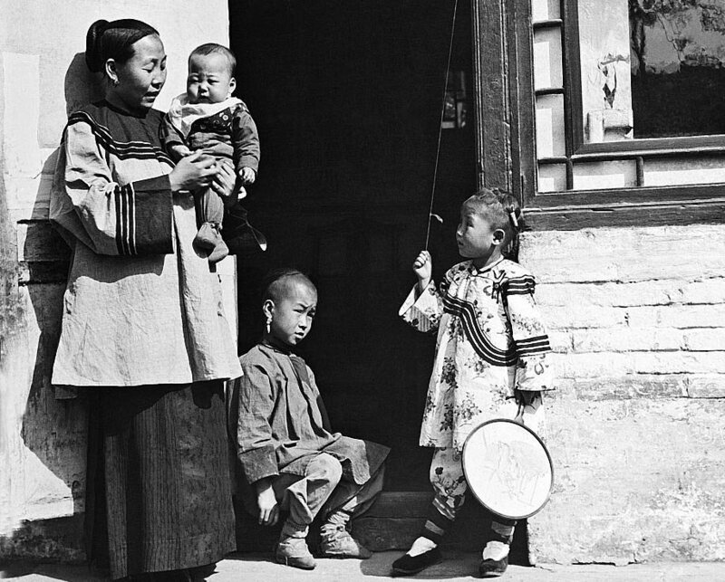 A family at home in China, c. 1930.