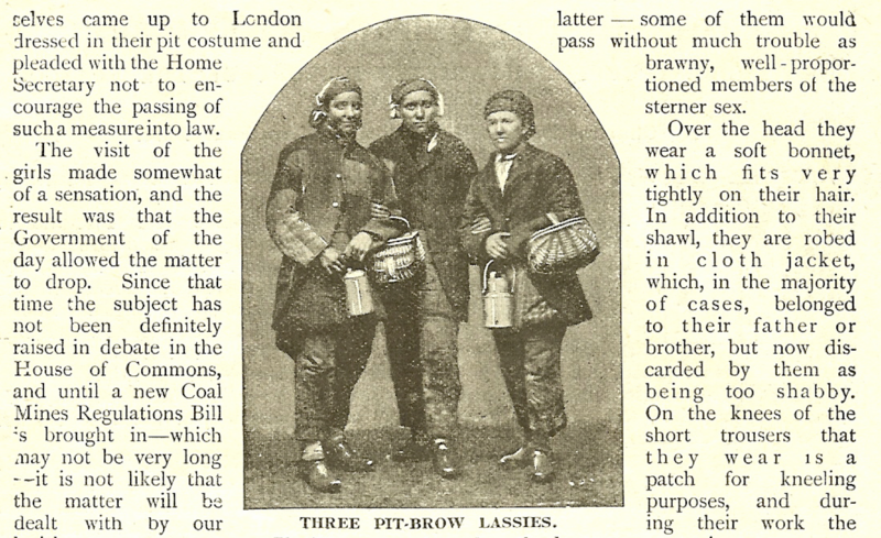 The <em>Penny Pictorial Magazine</em> was one of a few publications to run features on these 'lasses'.