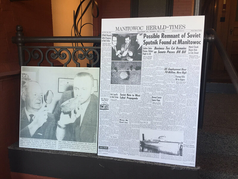 Local newspapers in Manitowoc carried the big story of when the space race literally came crashing into their town.