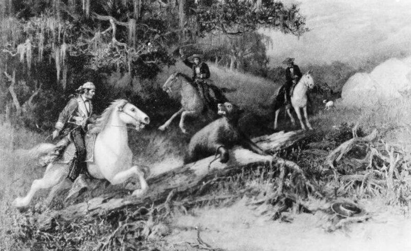 <em>Lassoing a Bear</em>, A.F. Harmer, Ventura County, California, c.1855.