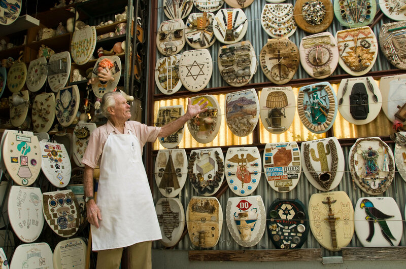 96 Year Old Barney Smith Is Giving Up His Toilet Seat Museum