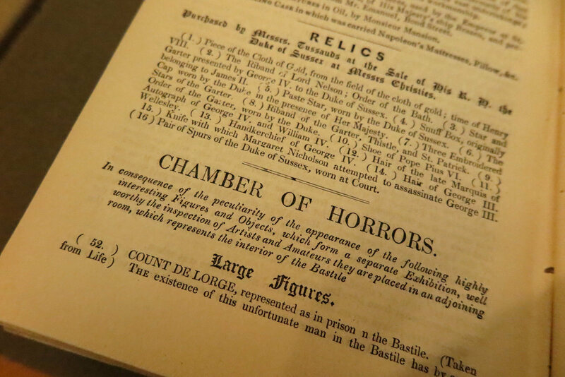 "Cataloguing Tussaud's ""Chamber of Horrors,"" 1848."