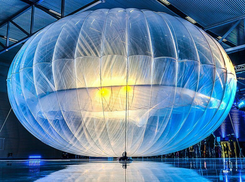 One of Project Loon's early balloon concepts in 2013.