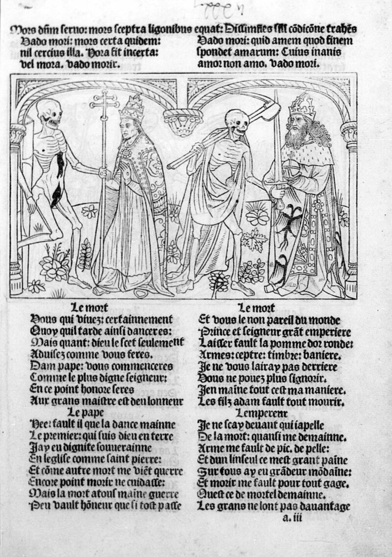 The Pope and the Emperor from Guyot Marchant's <em>Dance of Death</em>.