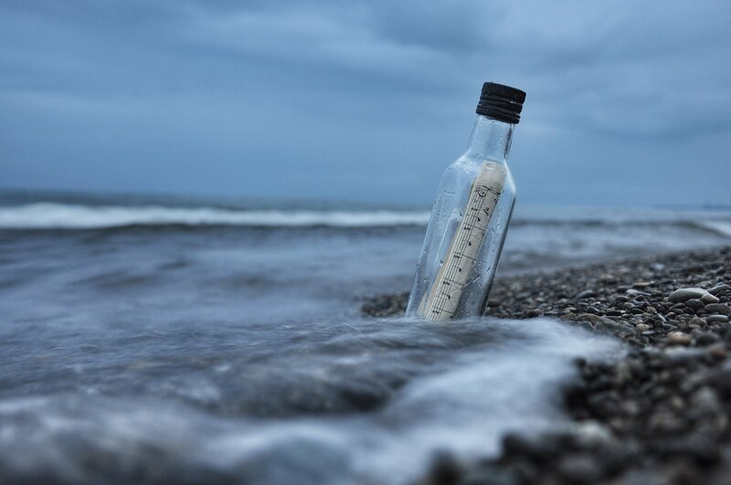 Drift bottles have been used to study ocean currents for centuries.