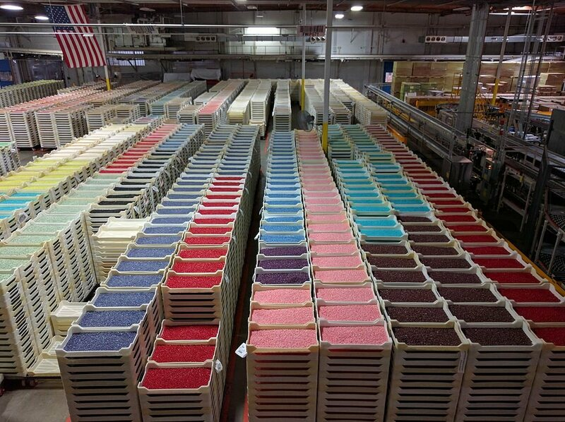 Inside the Jelly Belly factory.
