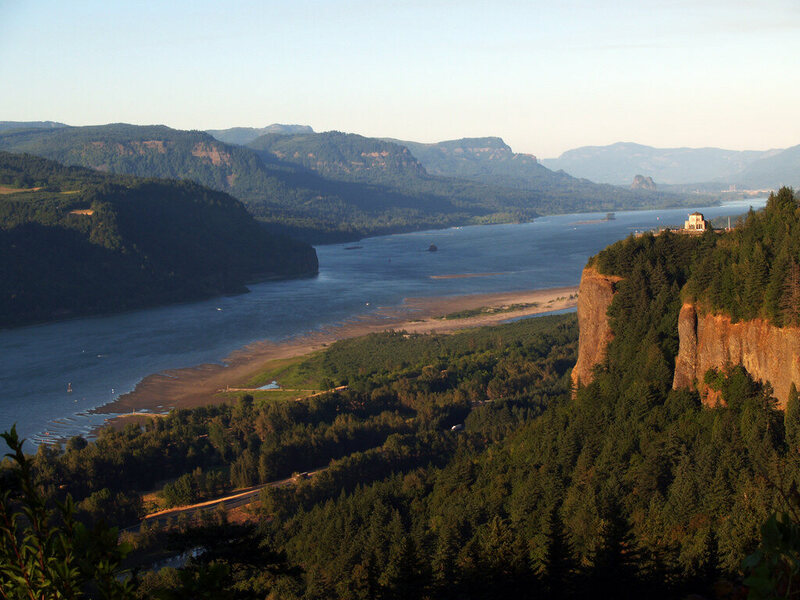 The Columbia River Gorge, east of Portland, Oregon.