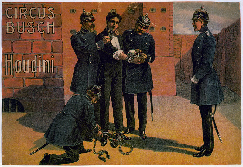 1908 Poster for a Houdini performance in Berlin